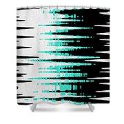 Ocean Gentle Waves Abstract Digital Painting Shower Curtain by Georgeta Blanaru