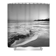 Ocean Glow Bw Shower Curtain
