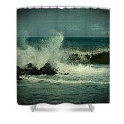 Ocean Impact - Jersey Shore Shower Curtain