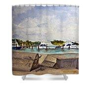 Ocean Inlet Marina Shower Curtain