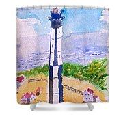 Ocean Lighthouse Shower Curtain