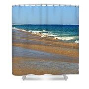 Ocean Lines Shower Curtain