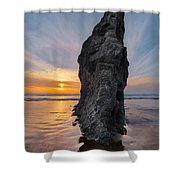 Ocean Meadow Beach Sunset Shower Curtain