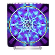Ocean Of Color Shower Curtain by Derek Gedney