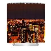 Ocean Of Light New York City Usa Shower Curtain