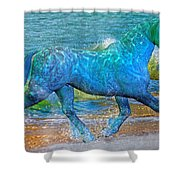 Ocean Of One I Of II Shower Curtain