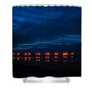 Ocean Pier At Dawn 2 Shower Curtain