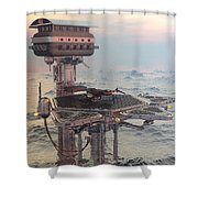 Ocean Refueling Platform Shower Curtain