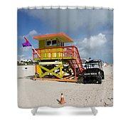 Ocean Rescue Miami Shower Curtain