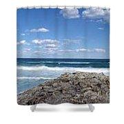 Great Ocean Road Surf, Australia - Panorama Shower Curtain