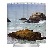 Ocean Rocks Near San Francisco Ca Cliff House Shower Curtain