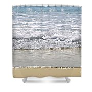 Ocean Shore With Sparkling Waves Shower Curtain