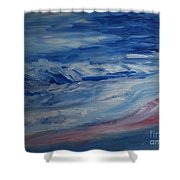 Ocean Shoreline Shower Curtain