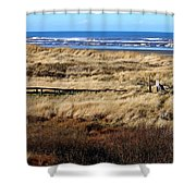 Ocean Shores Boardwalk Shower Curtain