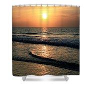 Ocean Sunrise Over Myrtle Beach Shower Curtain