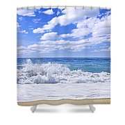 Ocean Surf Shower Curtain by Elena Elisseeva