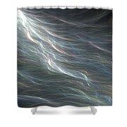 Ocean Swell Fractal Shower Curtain