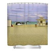 Ocean View 3 - Miami Beach - Florida Shower Curtain