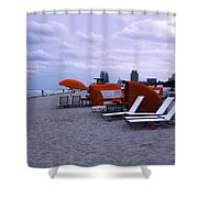 Ocean View 6 - Miami Beach - Florida Shower Curtain by Madeline Ellis