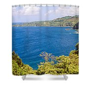 Ocean View From The Road To Hana, Maui Shower Curtain