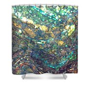 Ocean Waves 005 Shower Curtain