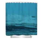 Ocean Waves Incoming Shower Curtain