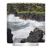 Ocean White Water Shower Curtain