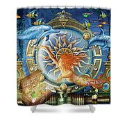 Oceana Triptych Shower Curtain by Ciro Marchetti