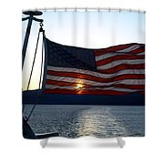 Oceanic Old Glory Shower Curtain