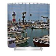 Oceanside Harbor Shower Curtain
