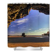 Oceanside Hideout Shower Curtain