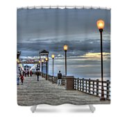 Oceanside Pier At Sunset Shower Curtain