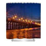 Oceanside Pier Evening Shower Curtain