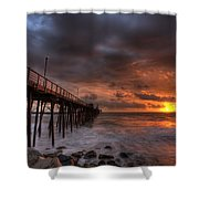 Oceanside Pier Perfect Sunset Shower Curtain