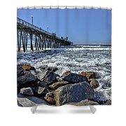 Oceanside Rocks Shower Curtain