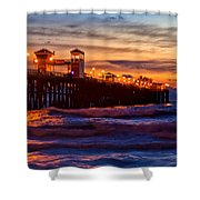 Oceanside Sunset IIi Shower Curtain