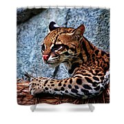 Ocelot Painted Shower Curtain