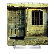 Ochre Wall 03 Shower Curtain