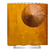 Ochre Wall Conical Hat Shower Curtain