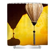 Ochre Wall Silk Lanterns  Shower Curtain