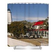 Ocracoke Island Lighthouse Img 3529 Shower Curtain