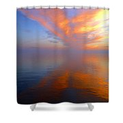 Ocracoke Nc Sunrise Shower Curtain by Joan Meyland