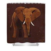 Ocre Elephant Shower Curtain
