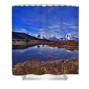 October At Oxbow Shower Curtain