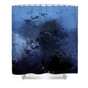 October Blues Shower Curtain