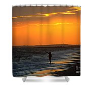 October Fishing Shower Curtain