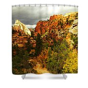 October In Zion Shower Curtain