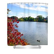 October On The Lake Shower Curtain