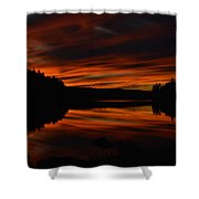 October Red Shower Curtain