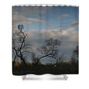 October River Reflections Shower Curtain